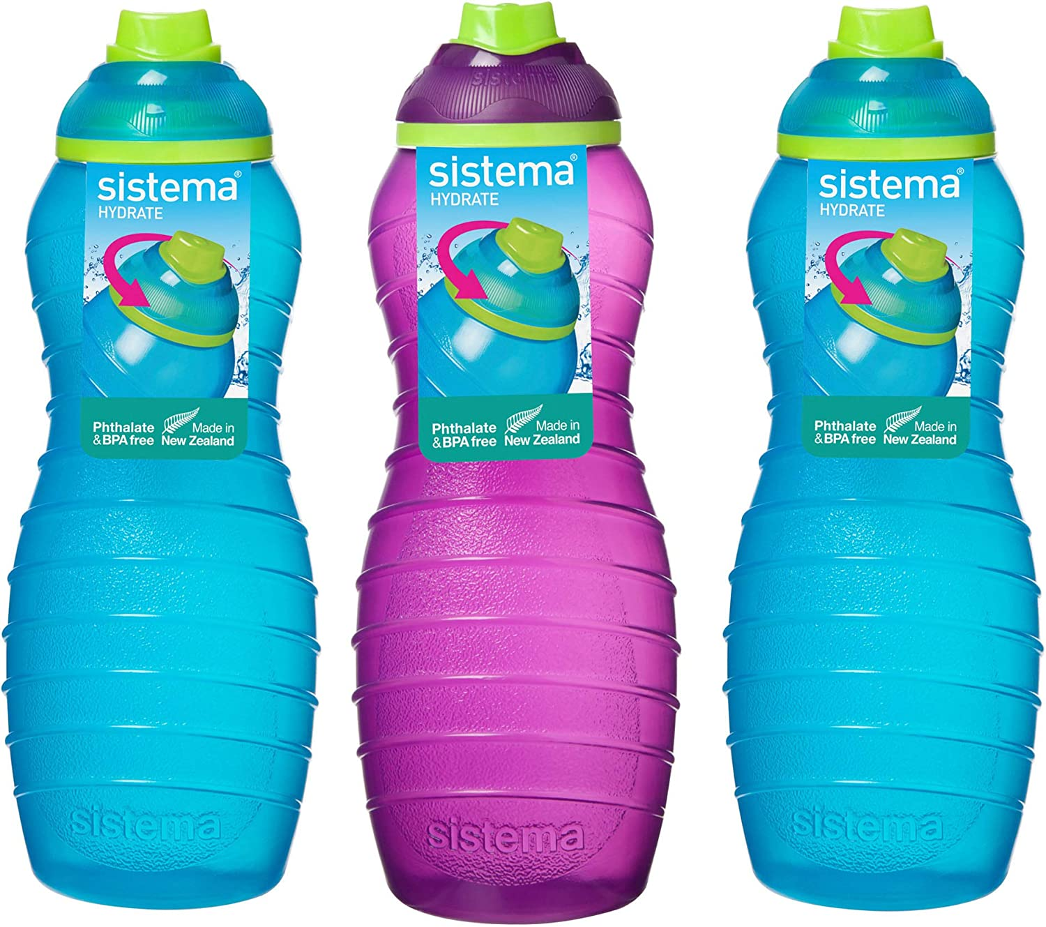 Online Kitchenware Sistema Lot de 3 gourdes Bleu/violet/orange 700 ml