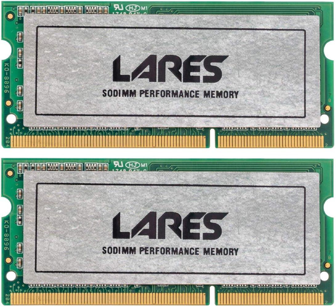 LEVEN Lares 16GB KIT (8GBx2) DDR3-1333MHz PC3-10600 204-Pin SO-DIMM CL9 Laptop Notebook RAM Memory Module (JR3SL1333172308-8Mx2)