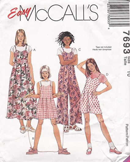 Amazon McCall's Sewing Pattern 40 Girls Size 40 Easy Jumper Adorable Sundress Sewing Pattern