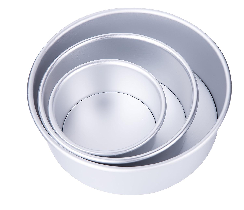 5 Inch, 7 Inch, 9 Inch 3 Pack Tebery Aluminum Round Cheesecake Pan