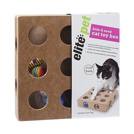 Sinobay Caja de juguetes para gatos, interactiva, para interior, gato, juguetes,