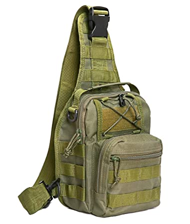 Amazon.com: Tactical Molle Bolsa de hombro militar ...
