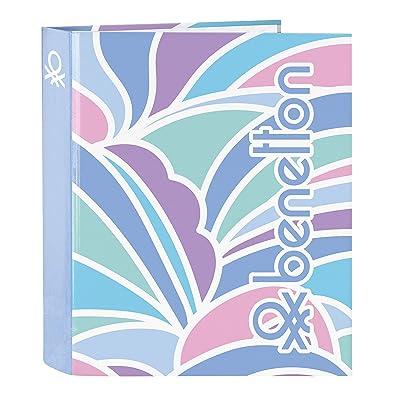 """Benetton """"Arcobaleno"""" Oficial Carpeta Oficial Folio 4 Anillas 270x60x330mm: Oficina y papelería"""