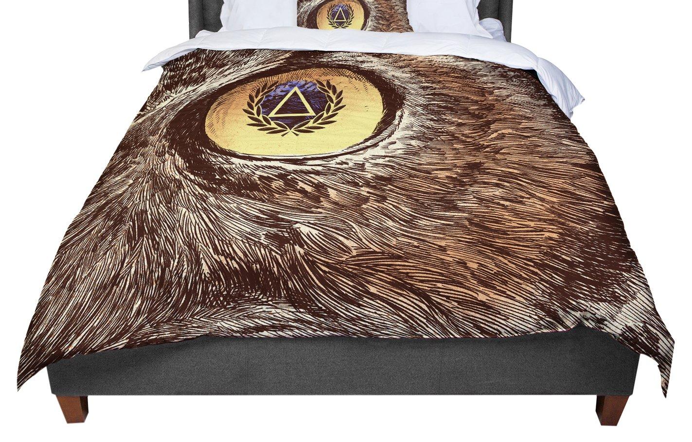 68 X 88 KESS InHouse BarmalisiRTB Sharp Eye Owl Twin Comforter