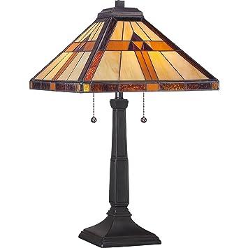 Quoizel Tf1427t Two Light Tiffany Table Lamp Small Tiffany Style