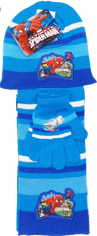 Kids Marvel Spiderman Hat Scarf and Gloves Set-780-191-236