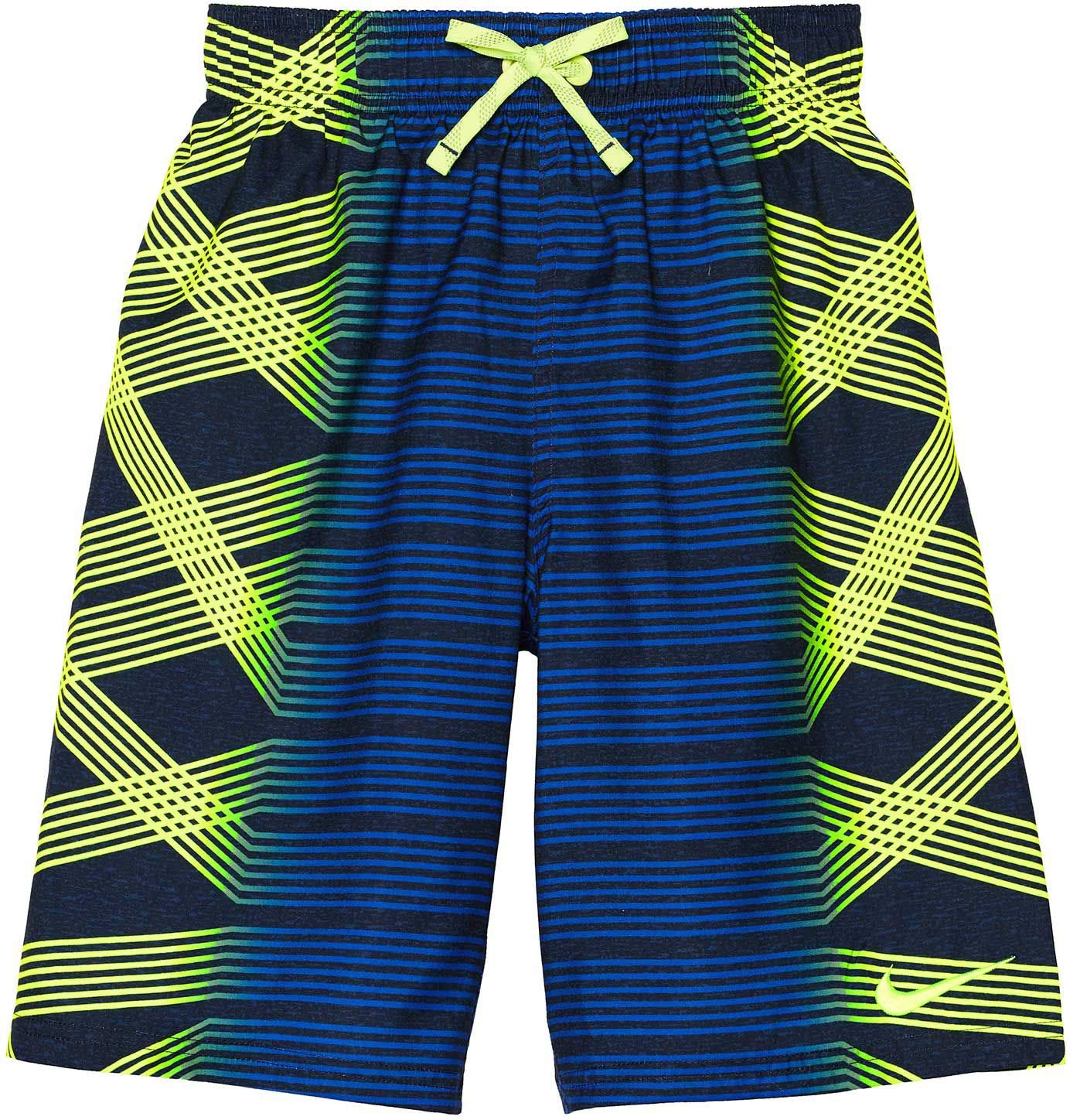 NIKE Boys Spin Breaker Swim Trunks (Volt, Small)