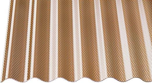 Acrylglas Wellplatten  Profilplatten 3mm Sinus76//18 Wabe bronce braun