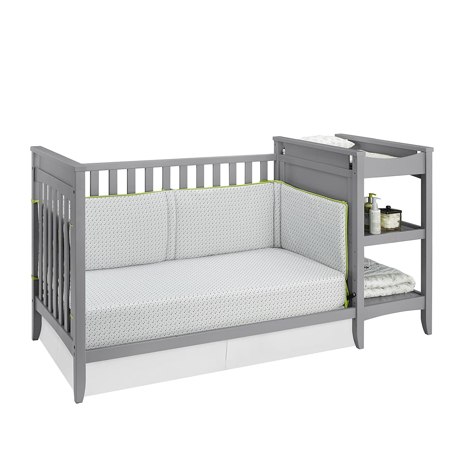 High Quality Amazon.com : Baby Relax Emma 2 In 1 Crib And Changing Table Combo, Gray :  Baby