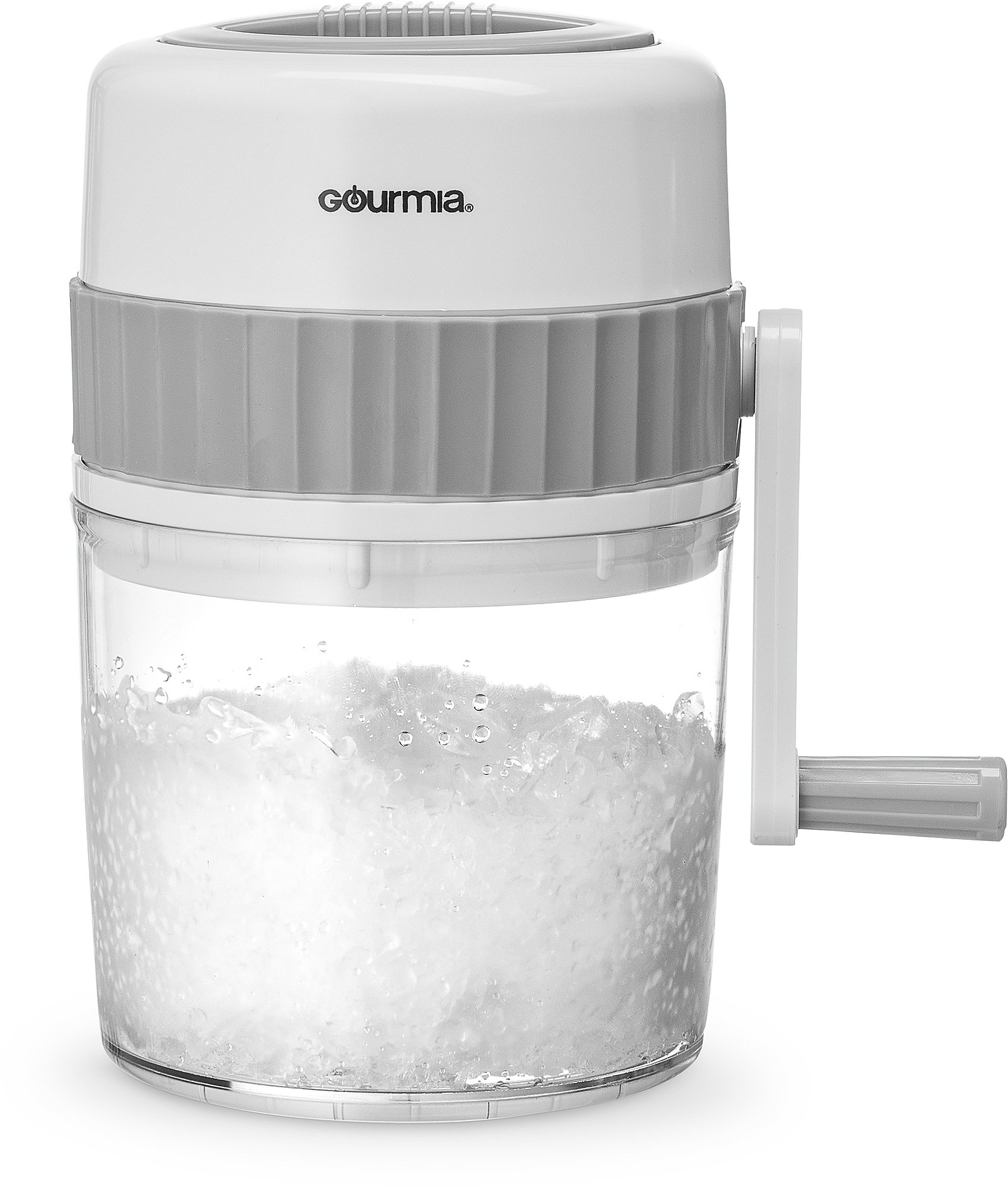 Gourmia GIC9635 Ice Shaver - Manual Hand Crank Operated Ice Breaker with Stainless Steel Blades for Fast Crushing - BPA Free by Gourmia