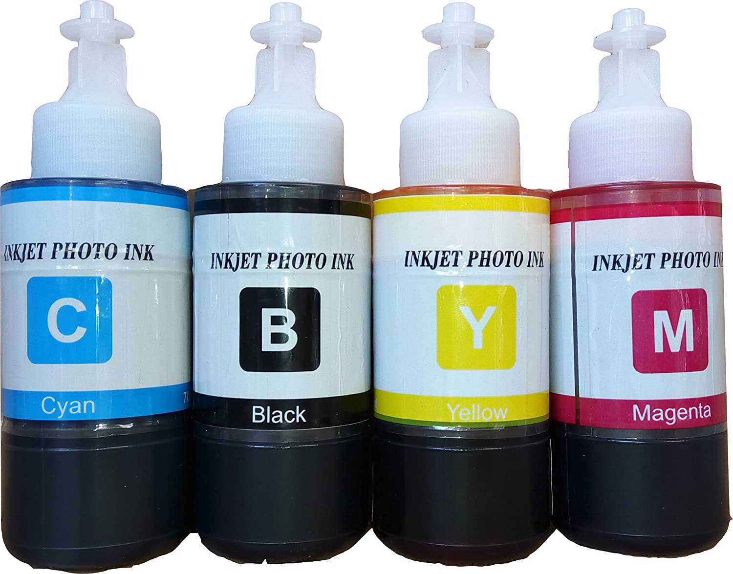Flowjet Refill Ink Bottle For Epson Printer L100 L110 L130 L200 L210 Print Head L120 L220 L310 L360 L365 L380 L385 L455 L485 L565 New Original L355 Pack Of 4 Multicolor Computers Accessories