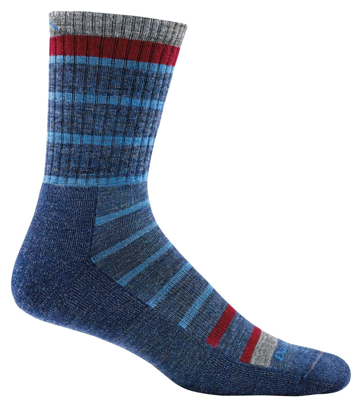 Darn Tough Via Ferratta Jr. Micro Crew Light Cushion Sock - Kid's Blue Medium by Darn Tough