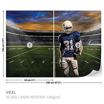 Superb American Football Stadium Wall Mural Photo Wallpaper Room Décor (1113WS)
