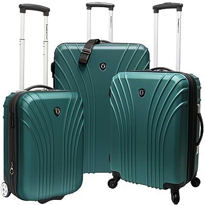 Traveler's Choice Cape Verde Super Lightweight Expandable Spinner Luggage Set