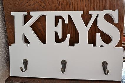 Para colgar llaves - perchero con 3 ganchos - estante clave ...
