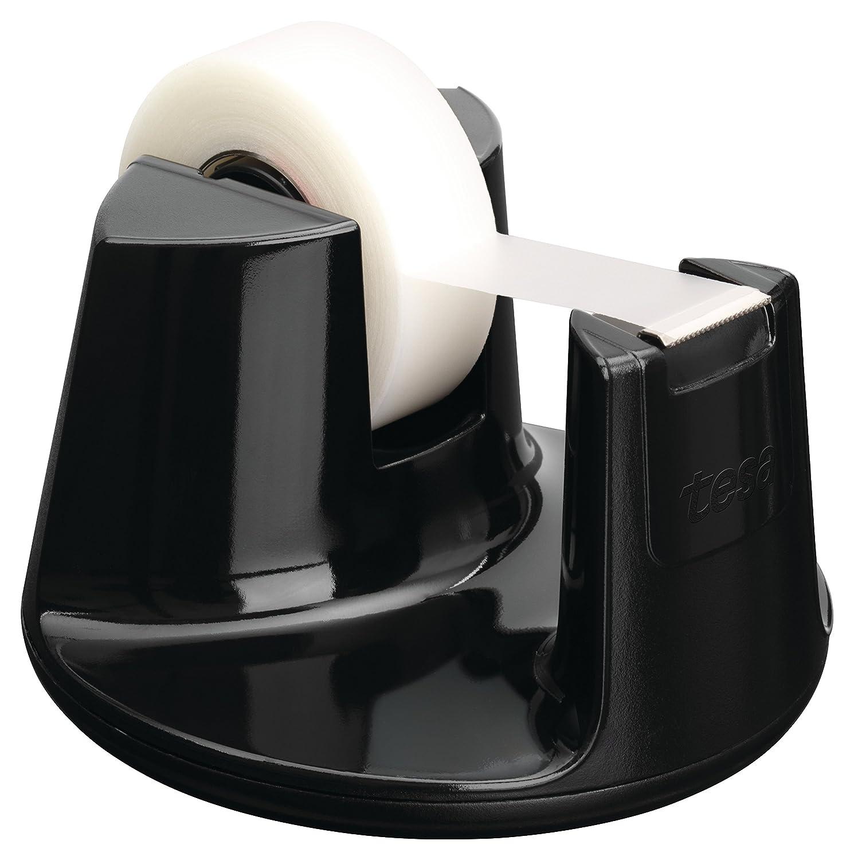 Tesa 53828 Dérouleur de Table Compact + Tesafilm Rouleau Invisible 33m x 19mm
