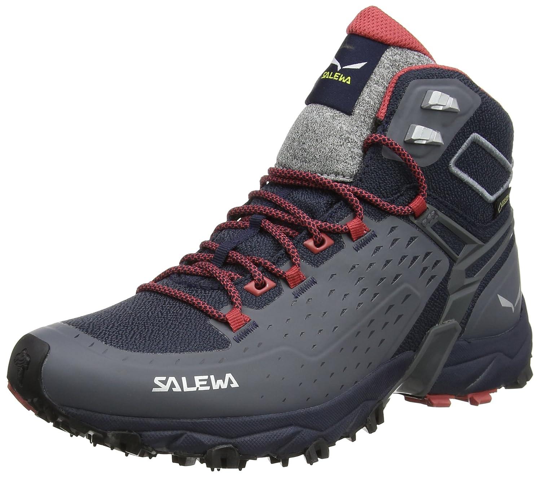 Salewa Alpenrose Ultra Mid Gore-TEX Hiking Shoes for Women B01N2O2LOL 7.5 B(M) US|Night Black/Mineral Red