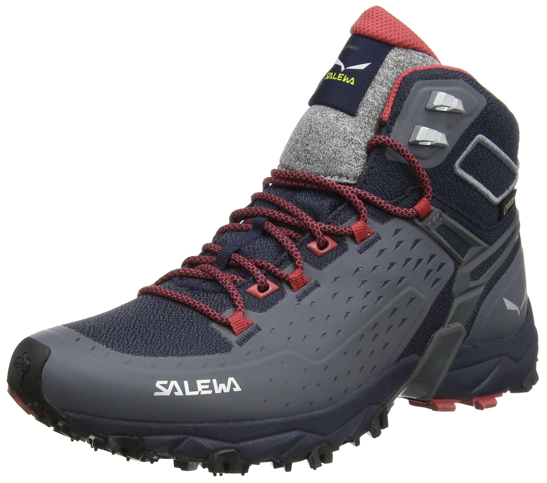 Salewa Women's Alpenrose Ultra Mid GTX Speed Hiking Shoe, Night Black/Mineral Red, 8