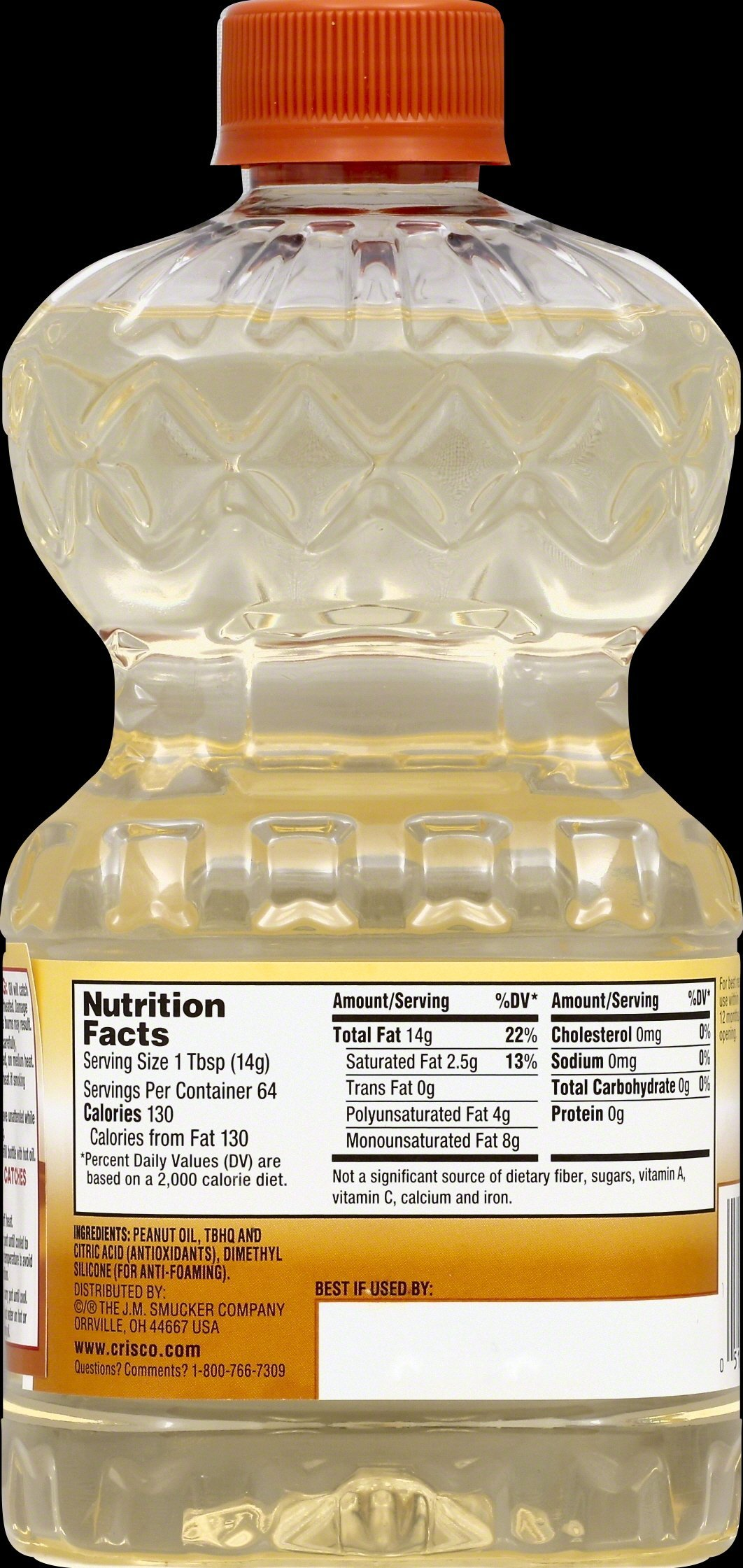 Crisco Pure Peanut Oil, 32 Ounce (Pack of 9) by Crisco (Image #2)