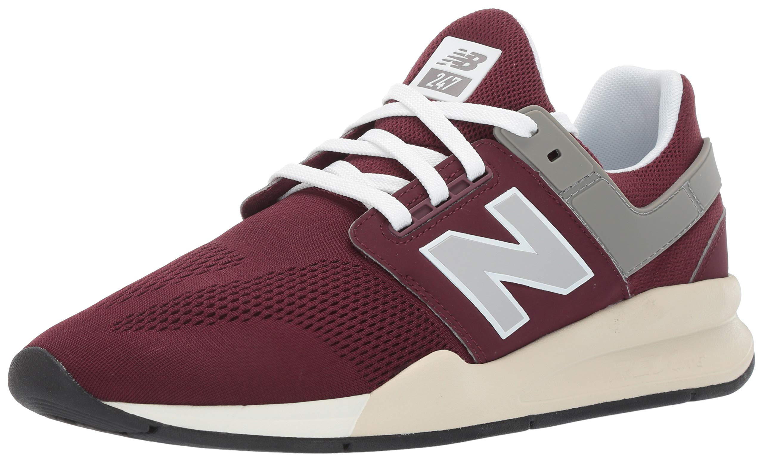 New Balance Men's 247v2 Sneaker, Nubuck Burgundy/Bone, 9.5 2E US