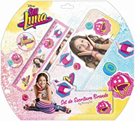 Soy Luna Big Writing Set Girls Teens Metal Case Pencil Eraser Ruler Sharpener
