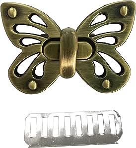 LGEGE Butterfly Shape Purses Lock Clutche Closure Purse Twist Turn Lock Brussed Bronze Tone 1 Set