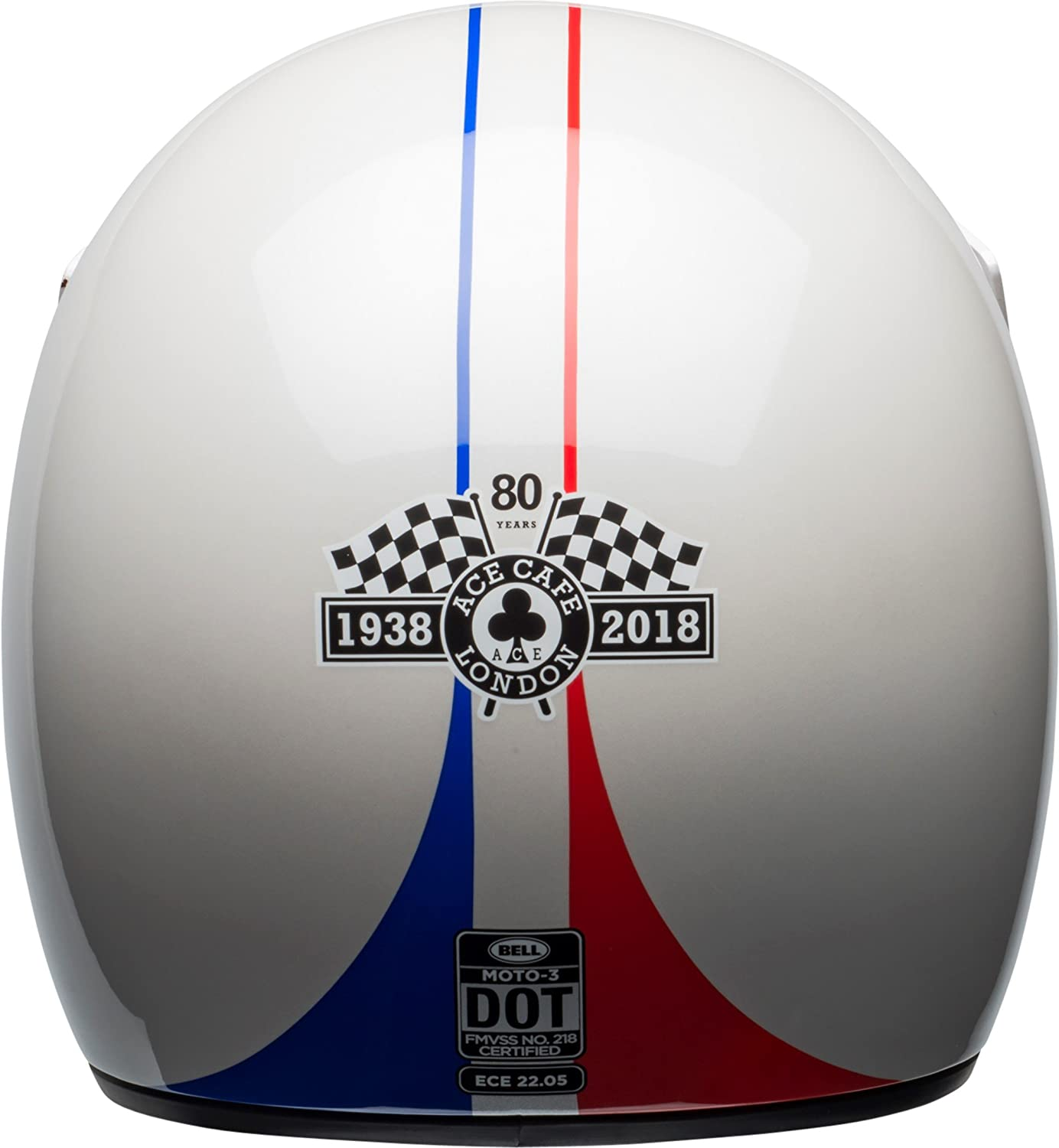 Amazon.com: Bell Moto-3 Off-Road Motorcycle Helmet (Ace Cafe GP 66 Gloss White/Red, X-Large): Automotive