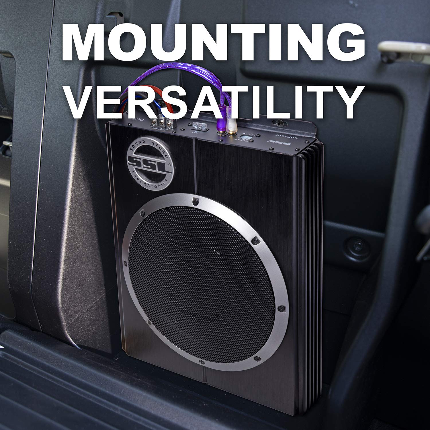 Sound Storm Lopro10 Amplified Car Subwoofer 1200 Watts Higain Speaker Listening Amplifier Circuit Kit Aa5 Max Power Low Profile 10 Inch Remote Control Great For Vehicles