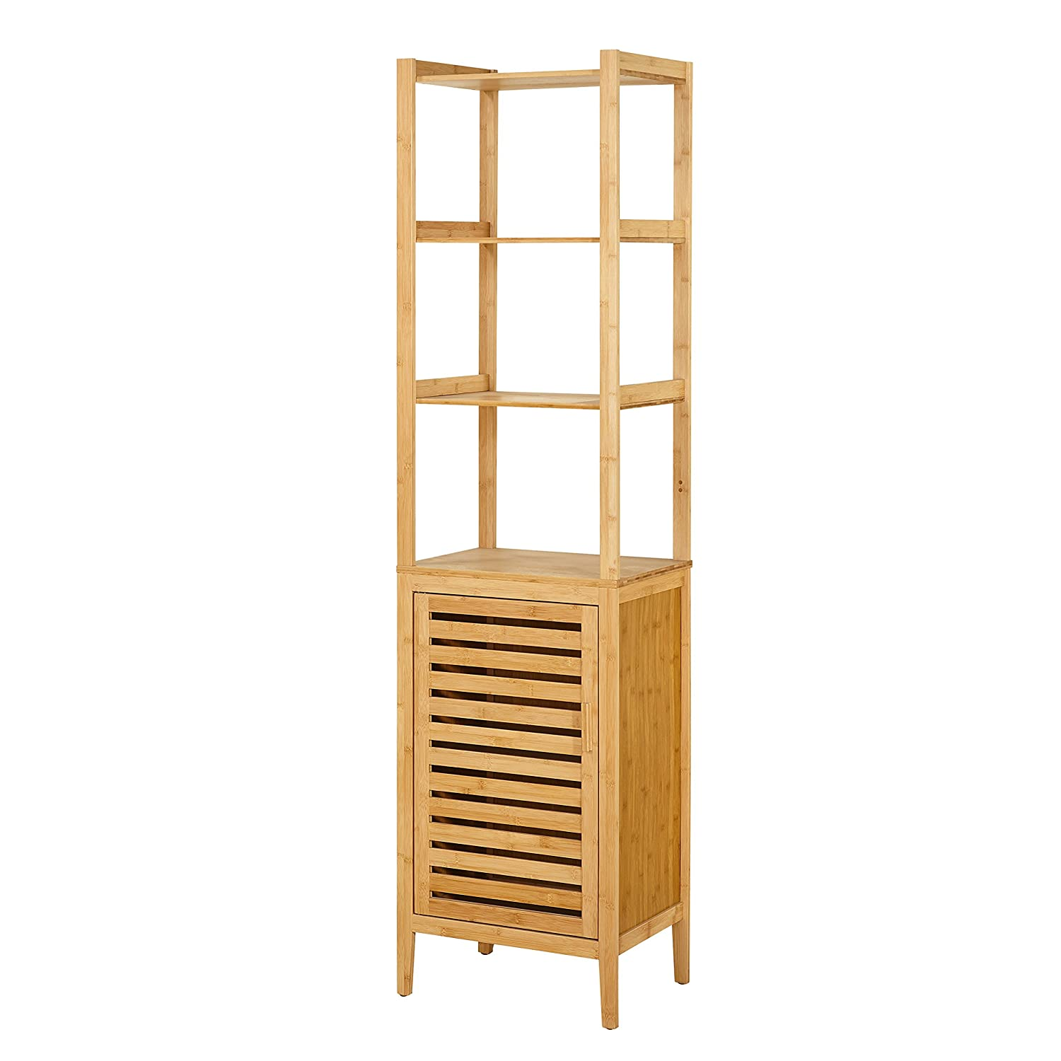 Simple Living Natural Bamboo Linen Tower, Natural Brown