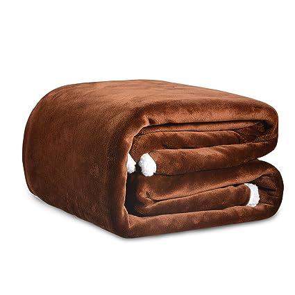 Sable - Manta de franela suave con uno capa de vellón polar cálido de 280 g