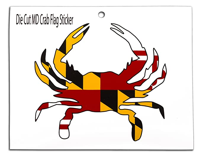 Amazon com maryland flag crab sticker