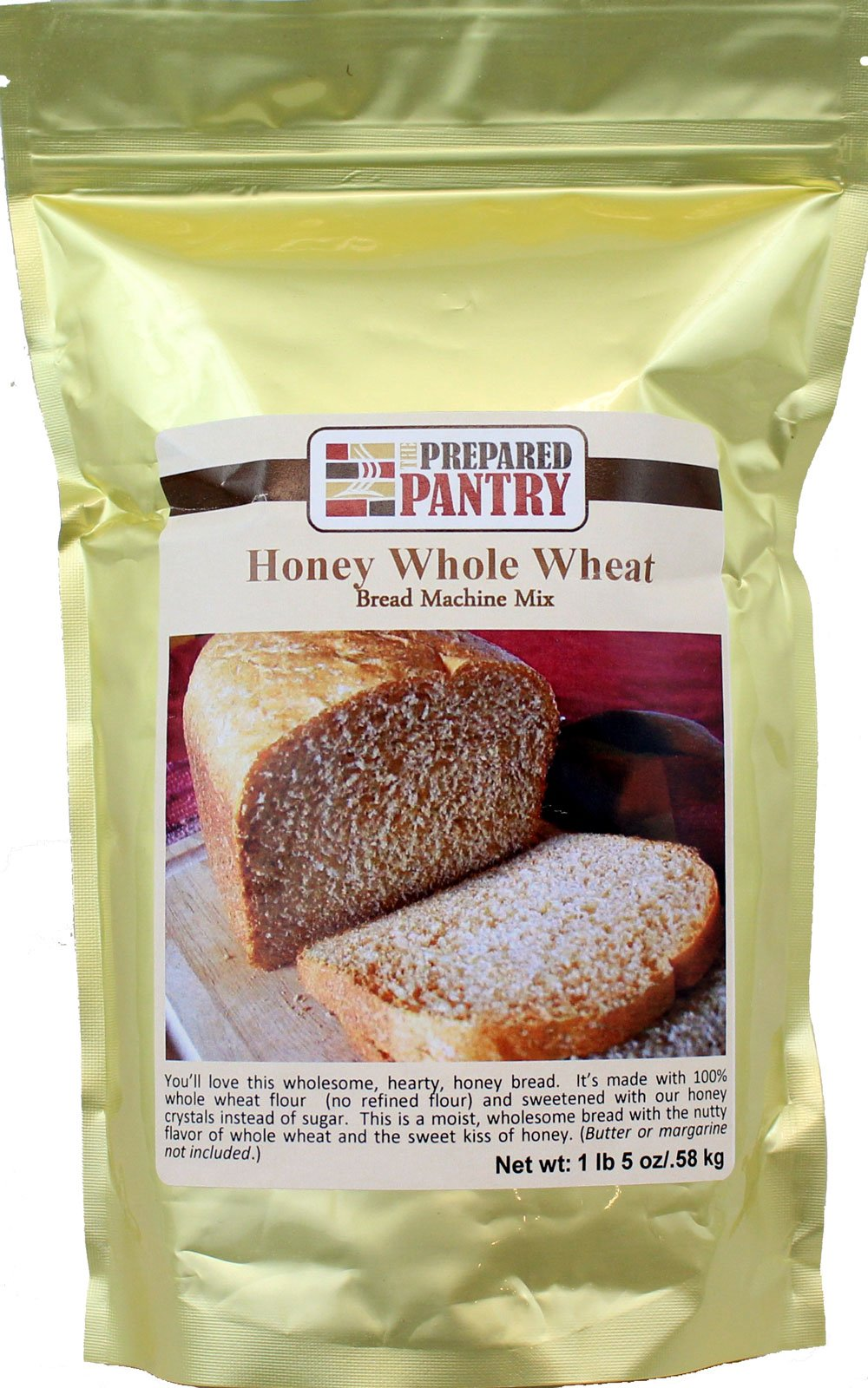 The Prepared Pantry Honey Whole Wheat Bread Machine Mix, 21 Ounce (Pack of 20)
