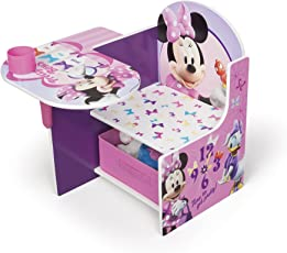 Delta Children Chair Desk With Storage Bin, Disney Minnie Mouse, Multicolor