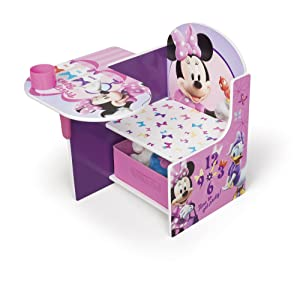 Delta Children Chair Desk With Stroage Bin, Disney Minnie Mouse