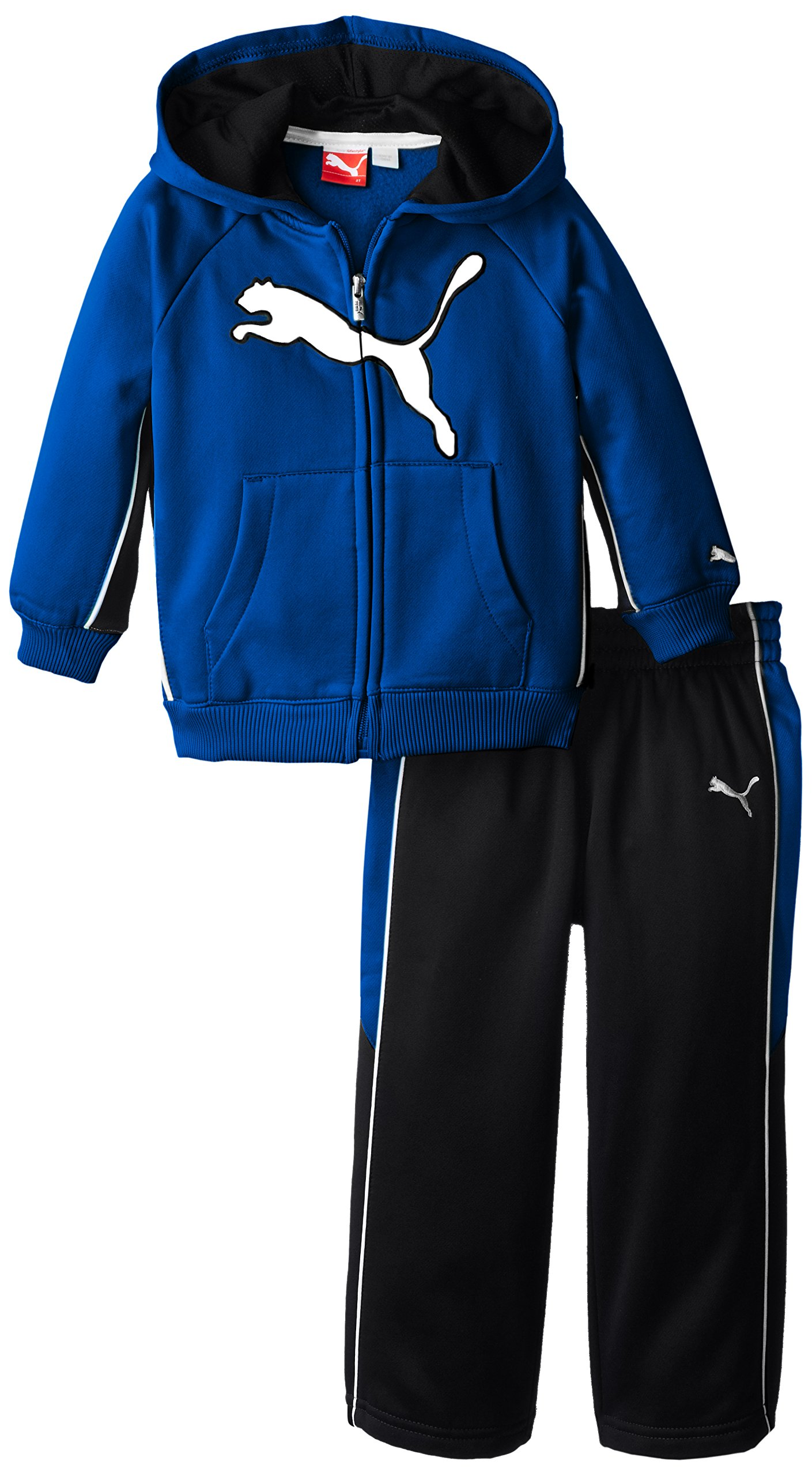 PUMA Little Boys' Cat Fleece Set-Toddler, Competition Blue, 2T by PUMA