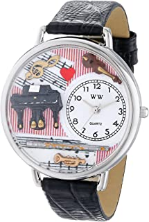 product image for Whimsical Watches Unisex U0510001 Music Teacher Black Skin Leather Watch