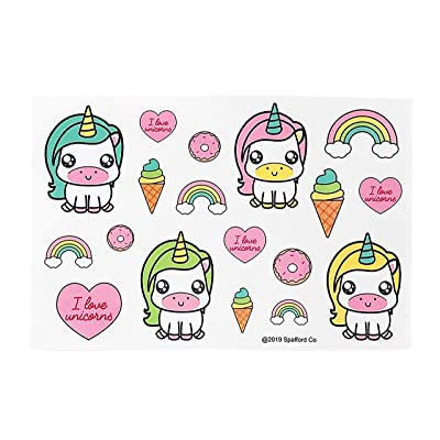 Spafford Co. 180 Unicorn Stickers for Girls 10 Individual Sheets Unicorn Party Favors: Toys & Games