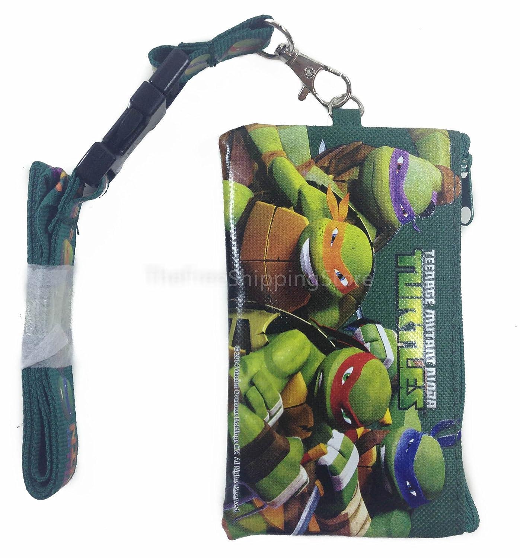 Teenage Mutant Ninja Turtle KeyChain Lanyard Fastpass ID Ticket Holder Green