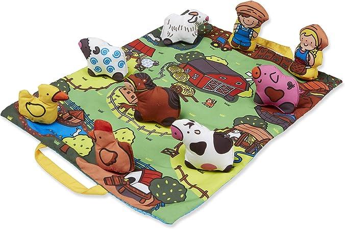 Amazon Com Melissa Doug Take Along Farm Play Mat Toy Toys Games