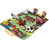 Melissa & Doug Take-Along Farm Baby and Toddler Play Mat (19.25 x 14.5 inches) With 9 Animals - Folds To Be Convenient Storag