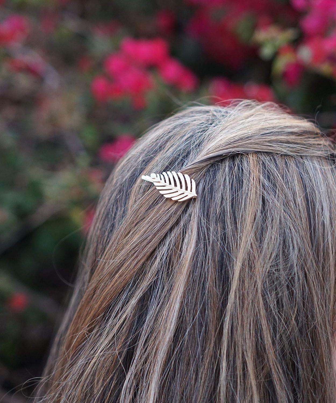 Leaf Bobby Pins Leaf Hair Clips Gold Fall Leaves Autumn Hair Accessories Golden Raw Brass Hair Pins Autumn Leaves Oak Leaf Woodland