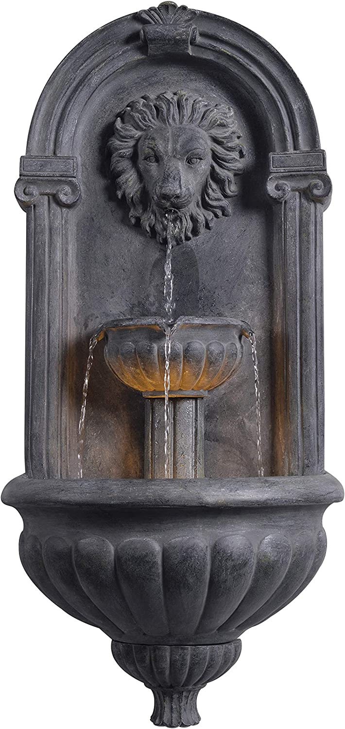 Kenroy Home 51043ZC Royal Fountains, 35 Inch Height, Zinc Finish