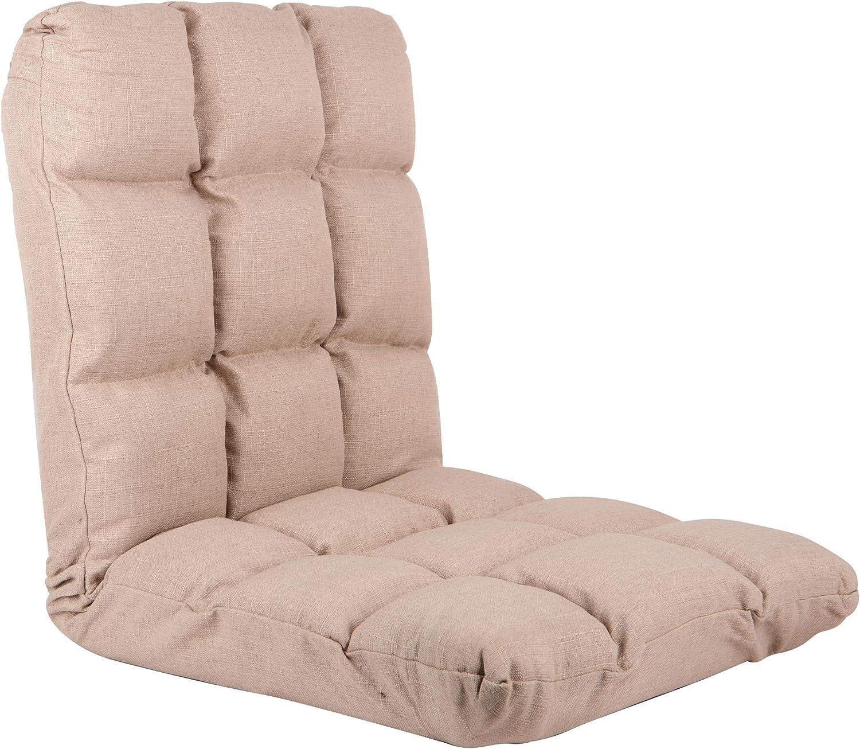 RM Design Cojín para silla de suelo con respaldo ajustable, ideal como silla de meditación, silla de lectura o silla de estadio, color beige