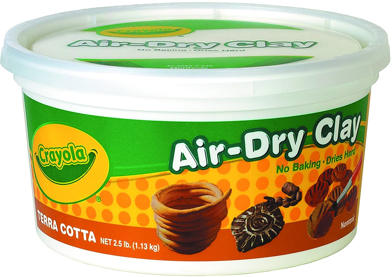 Crayola Terra Cotta Air Dry Clay 2.5 Pound Bucket
