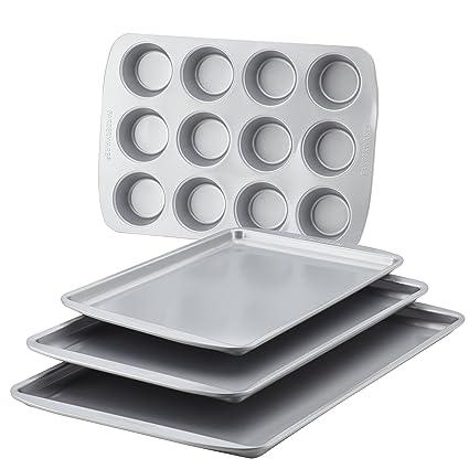 Gray Farberware 47360 Bakeware Set 4-Piece