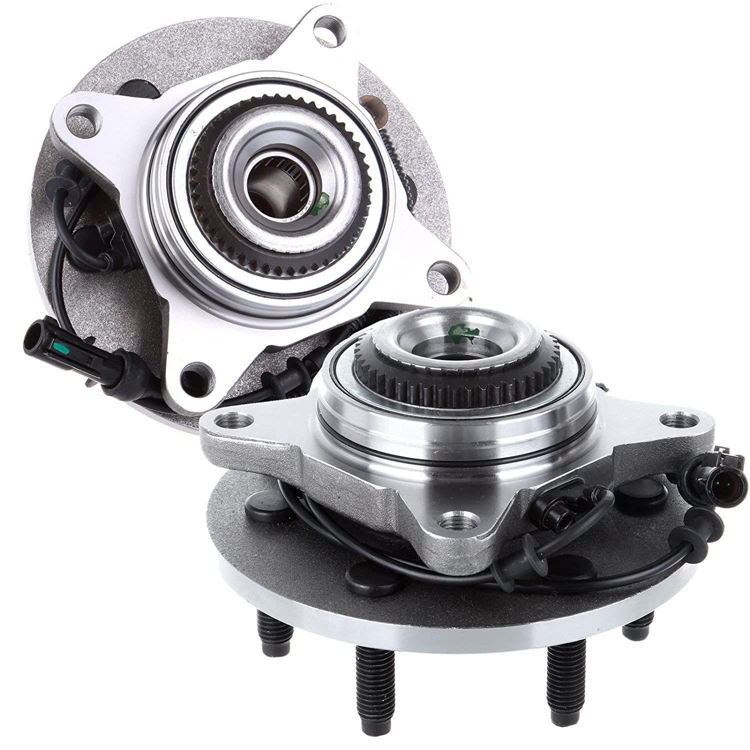 SCITOO Compatible with 2 Front Fits F-150 Expedition ABS 4WD 4x4 Wheel Hub and Bearing Assembly 515079 X 2