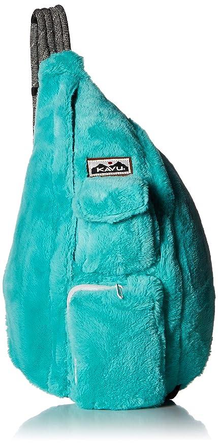 ed4d4542c4 KAVU Rope Fuzz Sling Bag Crossbody Backpack with Adjustable Shoulder Strap  - Glacier