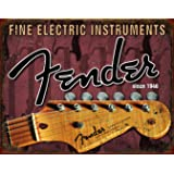 "Desperate Enterprises Fender - Headstock Tin Sign, 16"" W x 12.5"" H"