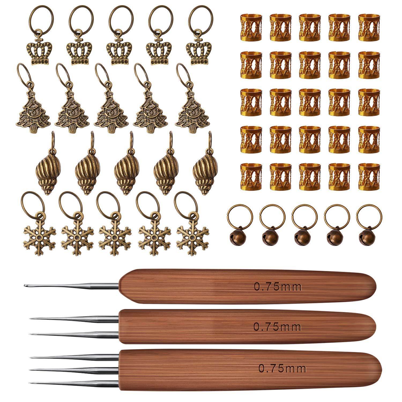 Luter - Agujas De Crochet Para Bambu Dreadlock 0.75mm Agu...