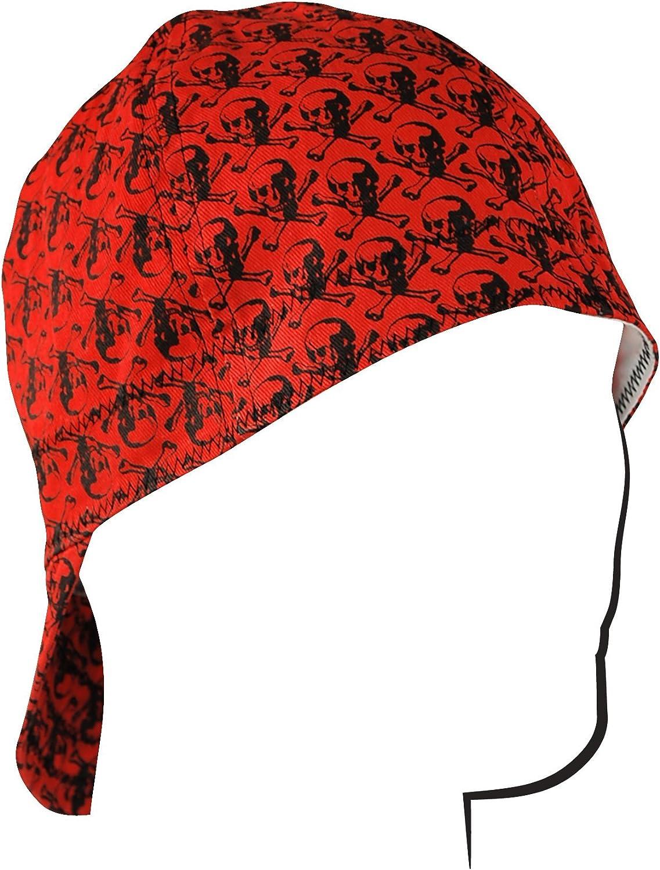 ZANheadgear Welder Cap with Wavy Flag Design Red//White//Blue, 7.25